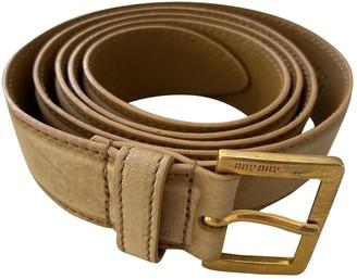Miu Miu Beige Leather Belts