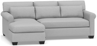 Pottery Barn York Roll Arm Deep Seat Upholstered Chaise Sofa Sectional