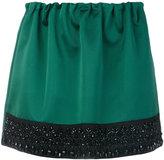 No.21 beaded hem mini skirt