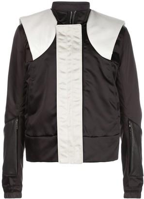 Rick Owens Colour Block Contrast Panel Bomber Jacket