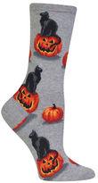 Hot Sox Cat and Pumpkin Socks
