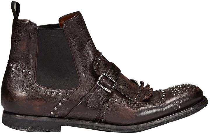 Church's Micro Studded Ankle Boots