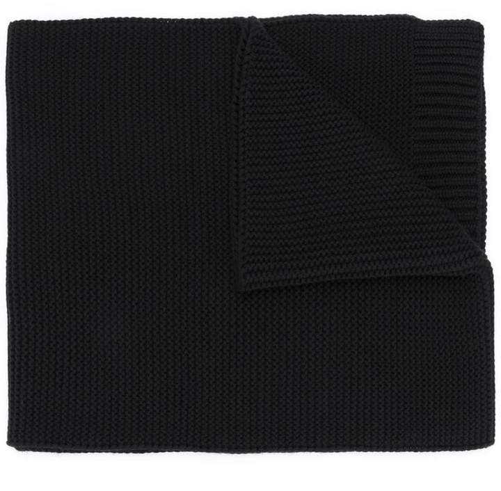 Courreges logo patch knitted scarf