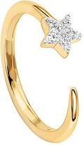 Missoma 18ct Gold Vermeil Cosmic Nova Pave Star Ring, Gold