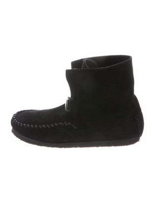 Isabel Marant Flavie Suede Lace-Up Boots Black