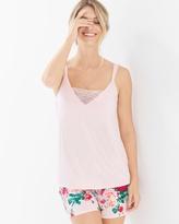 Soma Intimates Pajama Cami With Lace Rose Quartz