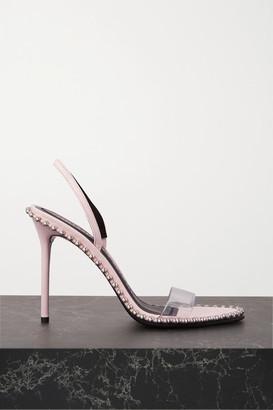 Alexander Wang Nova Studded Leather And Pvc Slingback Sandals - Baby pink