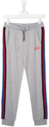 Kenzo Kids TEEN side stripe track pants