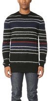 McQ by Alexander McQueen Alexander McQueen Brushed Stripe Crew Sweater