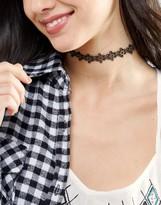 Asos Cut Out Flower Choker Necklace
