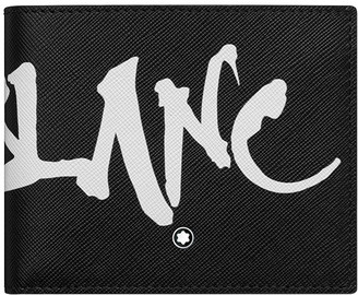 Montblanc Men's Saffiano Leather Graffiti Logo Wallet