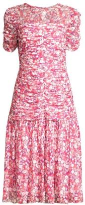 Shoshanna Vonne Floral Drop-Waist Dress