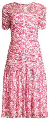 Shoshanna Vonne Floral Drop-Waist Dress