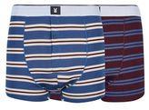 Burton Mens Montague 2 Pack Blue Premium Modal Striped Trunks
