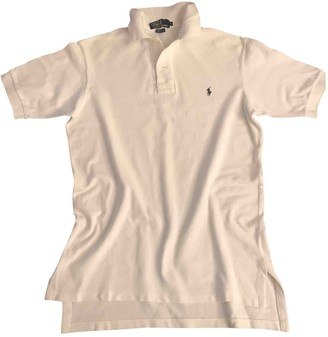 Polo Ralph Lauren Polo classique manches courtes White Cotton Top for Women Vintage