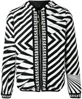 Versus zig-zag print jacket - men - Polyamide/Polyester/Spandex/Elastane - 46