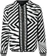 Versus zig-zag print jacket - men - Polyester/Polyamide/Spandex/Elastane - 46