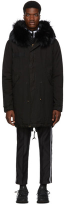 Mr & Mrs Italy Black Quilted Lining Parka