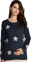 Sweet Mommy Maternity and Nursing Organic Cotton Star Pattern Sweater top CHM
