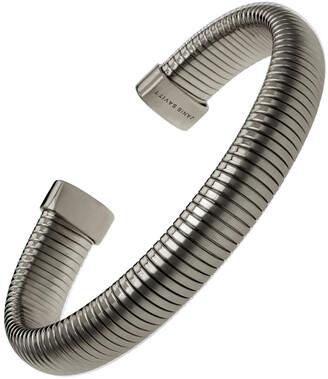 Janis Savitt Medium Black Gold Plated Cobra Cuff Bracelet