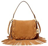 Lauren Ralph Lauren Suede Fringe Saddle Bag
