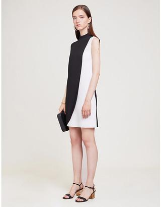 Givenchy Contrast-panel sleeveless crepe midi dress