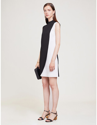 Givenchy Contrast-panel sleeveless crepe midi dress