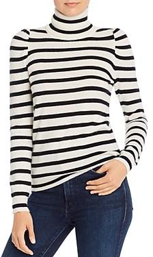 Madeleine Thompson Pinocchio Striped Cashmere Turtleneck Sweater