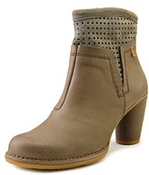 El Naturalista N472 Women Round Toe Leather Brown Ankle Boot.