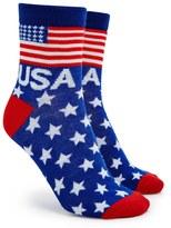 Forever 21 FOREVER 21+ American Flag Crew Socks