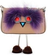 Fendi Face Micro Calfskin & Genuine Fur Baguette with Slippers