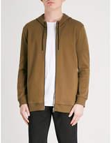 HUGO Zip-up cotton-jersey hoody