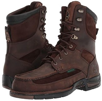 Georgia Boot Upland 8 Moc Toe Steel Toe (Brown) Men's Boots