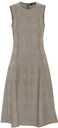 Polo Ralph Lauren Checked cotton and linen dress
