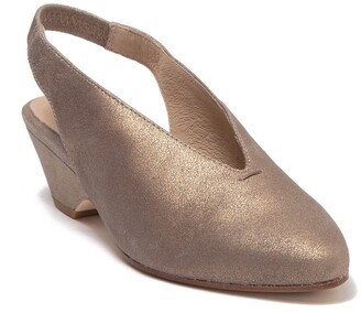 Eileen Fisher Gatwick Metallic Leather Slingback Sandal