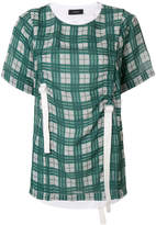 Joseph ruched checked top