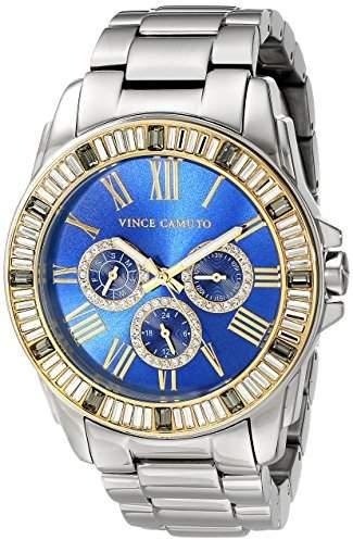 Vince Camuto Women's VC/5159BLLG Multi-Function Blue Dial Light Grey Bracelet Watch