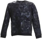 Valentino Black Cotton Camoustars Sweater