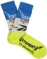 Vetements X Reebok Edition Classic cotton-blend socks