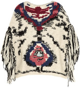 Étoile Isabel Marant Shanon jacquard-knit wool-blend poncho