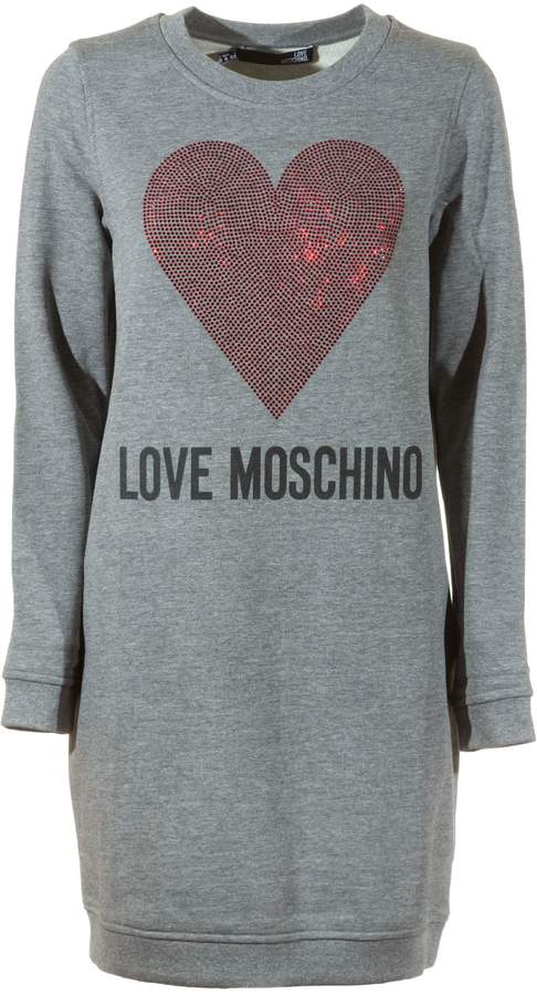 Love Moschino Sequined Heart Sweater Dress