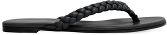 Gianvito Rossi 10mm Braided Leather Flip Flops