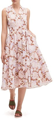 Kate Spade Exotic Bloom Burnout Dress (Hot Cider) Women's Dress