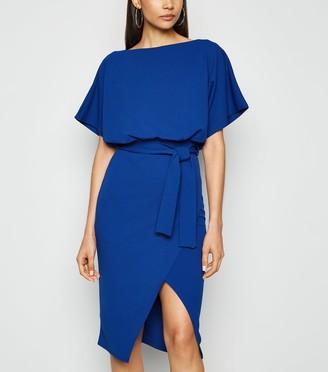 New Look Missfiga Wrap Tie Waist Batwing Dress