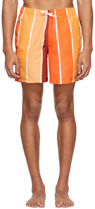 Bather Orange Striped Gradient Swim Shorts