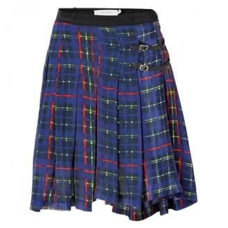 Preen Blue Silk Skirt for Women