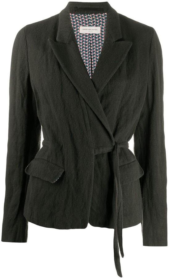 Dries Van Noten Pre-Owned 1990s Wrap-Front Jacket