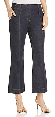 Tory Burch Cropped Flare Jeans in Resin Rinse