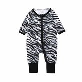 Kids Tales Baby Girls Footed Sleeper Zebra Pajama Cotton Long Sleeve Romper