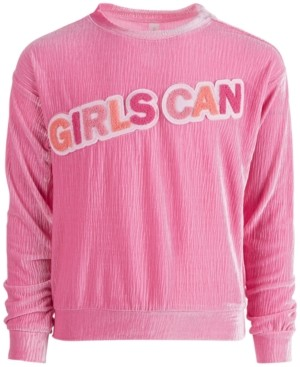 Ideology Big Girls Velour Graphic Crewneck Sweatshirt, Created for Macy's